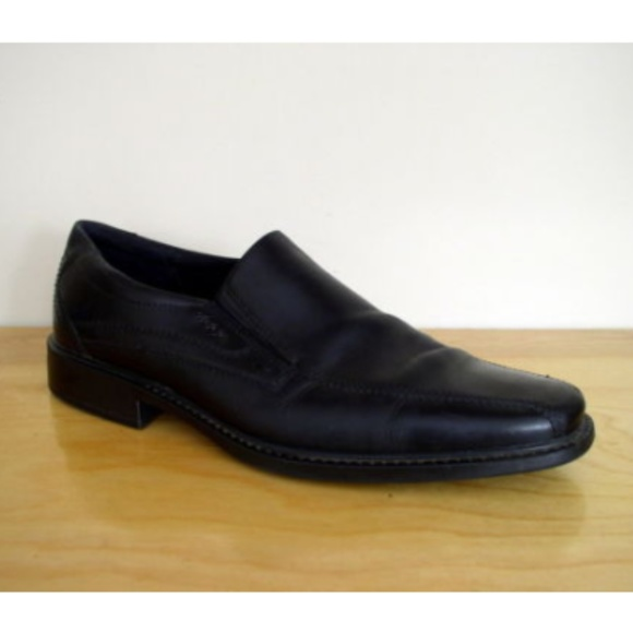41afd58c233 Ecco Other - Ecco Men s New Jersey Black Leather Loafer ...